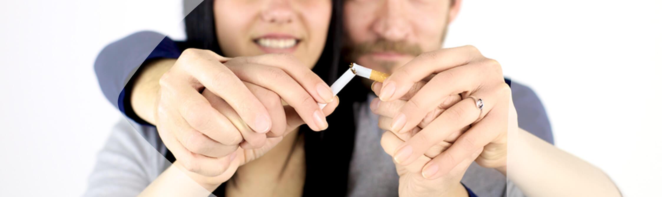 Os pulmões de um fumador